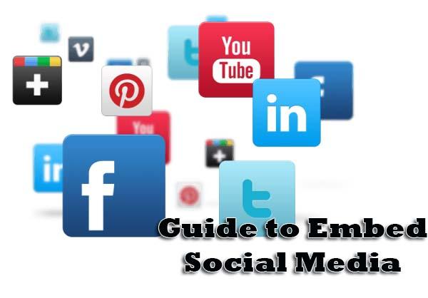 embed social media
