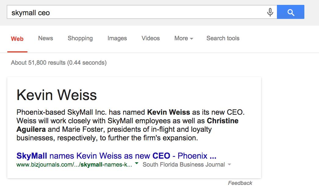 Skymall CEO Karen Weiss