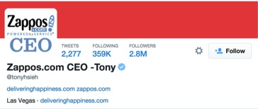 Zappos CEO Twitter