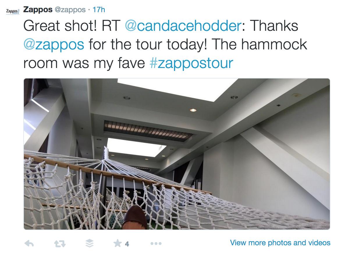 Zappos Hammock Room