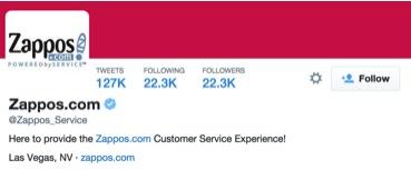 Zappos Service Twitter