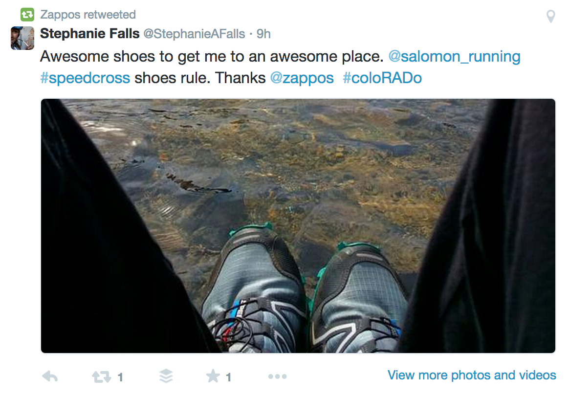 Zappos Twitter Products