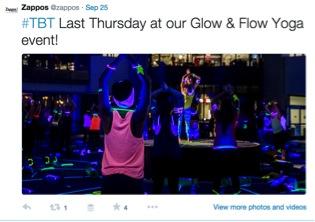 Zappos Yoga Twitter