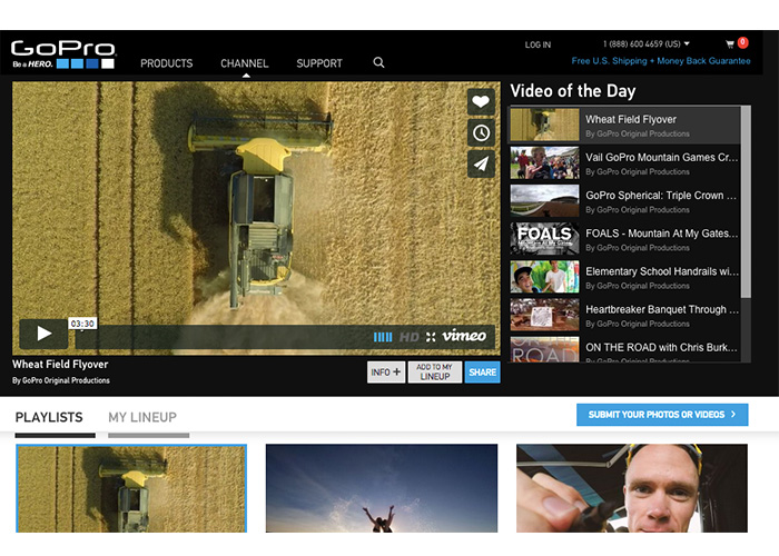gopro ecommerce content marketing
