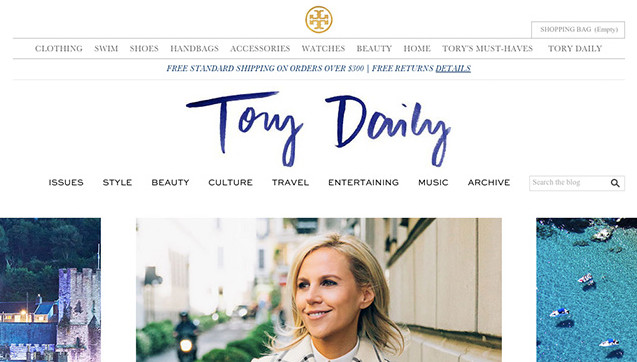 tory birch daily lifestyle blog