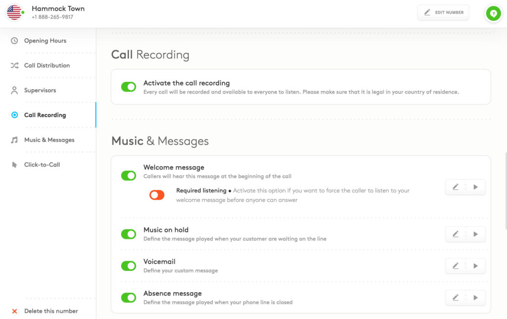 aircall features